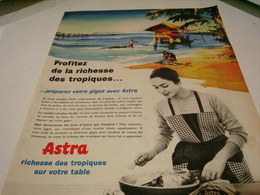 ANCIENNE  PUBLICITE RICHESSE DES TROPIQUE  MARGARINE ASTRA  1959 - Posters