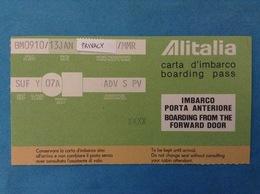 ALITALIA AEREO VOLO BM0910 BIGLIETTO CARTA D'IMBARCO BOARDING PASS - Biglietti Di Trasporto