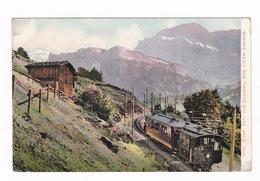 Jolie CPA Coul. Engelberg (canton D'Obwald, Suisse), Petit Train. A Voyagé En 1906 - OW Obwalden