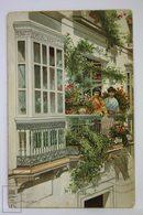 Postcard Spain - Cadiz Balcón Andaluz - Typical Spanish Girls On Flower Balcony -  Petracchi & Notermann - Cádiz