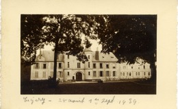 91 TIGERY - Rare Carte-photo - Le Château En 1939 - Autres Communes