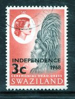 Swaziland 1968 Independence - 3c On 2½c Ceremonial Head-Dress Used (SG 146) - Swaziland (1968-...)