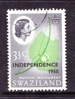Swaziland 1968 Independence - 3½c Musical Instrument Used (SG 147) - Swaziland (1968-...)