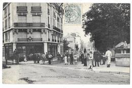 Cpa: 78 MAISONS LAFFITTE (ar. Saint Germain En Laye) Avenue De Poissy (Café - Tabac De L'Arrivée)1906 - Maisons-Laffitte