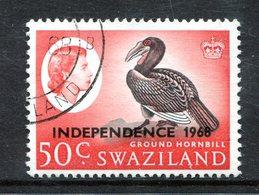 Swaziland 1968 Independence - 50c Ground Hornbill - Wmk. Sideways - Used (SG 159) - Swaziland (1968-...)