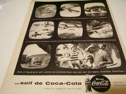 ANCIENNE PUBLICITE CANOE RUDE JOURNEE COCA COLA 1959 - Affiches