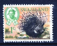 Swaziland 1969 Wildlife - 1c Porcupine Used (SG 162) - Swaziland (1968-...)