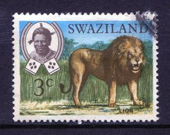 Swaziland 1969 Wildlife - 3c Lion Used (SG 164) - Swaziland (1968-...)