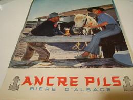ANCIENNE PUBLICITE ANCRE PILS (biere D Alsace) 1959 - Alcools