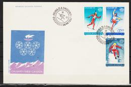 1987/88 -  CALGARY  Mi No 4518/4425 - FDC
