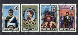 Swaziland 1971 Golden Jubilee Of Accession Of King Sobhuza II Set Used (SG 188-191) - Swaziland (1968-...)