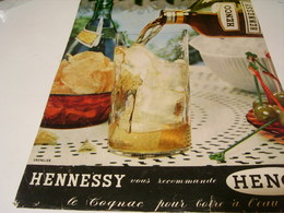 ANCIENNE PUBLICITE RECOMMANDE HENCO   COGNAC HENNESSY 1959 - Alcohols