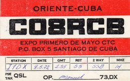 CUBA  ,  Santiago De Cuba  ,  QSL  , Radioamatori - Cuba