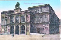 205-Sicilia-Messina-1920-Teatro V.E.-bollo Porta Lettere N°155 Quartiere Postale Di Roma-Storia Postale. - Storia Postale