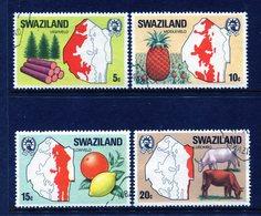 Swaziland 1977 Maps Of The Region Set Used (SG 280-283) - Swaziland (1968-...)