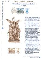 2006 DOCUMENT FDC CONGRES PHILA. PARIS OPERA GARNIER - Documentos Del Correo