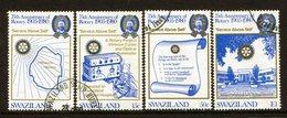 Swaziland 1980 75th Anniversary Of Rotary International Set Used (SG 336-339) - Swaziland (1968-...)