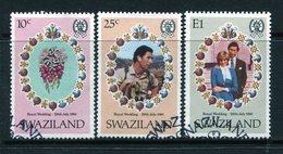 Swaziland 1981 Royal Wedding Set Used (SG 376-378) - Swaziland (1968-...)