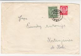 Kingdom Of Yugoslavia, Letter Cover Travelled 1937 Krško To Kostanjevica Ob Krki B180825 - 1931-1941 Kingdom Of Yugoslavia