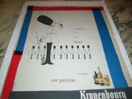 ANCIENNE AFFICHE PUBLICITE BIERE EN ANGLETERRE  KRONENBOURG 1959 - Alcohols