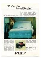 RECORTE DE PRENSA REVISTA O PERIÓDICO PUBLICIDAD FIAT MODELO 125 Y PAN AM ADVERTISING PRESS VER FOTO.COCHE CAR AUTOMÓVIL - Publicidad