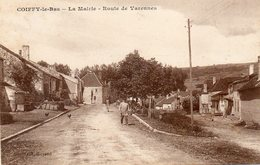 CPA - COIFFY-le-BAS (52) - Aspect Du Quartier De La Mairie Et De La Route De Varennes Dans Les Années 20 - France