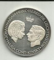 Liechtenstein 1967 Medalha Prata Proof 15g - Liechtenstein