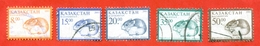 Kazakhstan 2001-03.Fauna. Mouse. Used Stamps. Complete Series. - Kazakhstan