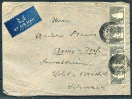1947 Palestine Airmail Cover Tel Aviv - Hotel Bristol, Davos-Dorf, Switzerland - Palestine