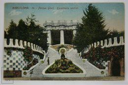 Postcard Spain - Barcelona - Park Güell General Centre Stairs - Antoni Gaudi - Jorge Venini - Barcelona