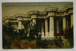 Postcard Spain - Barcelona - Park Güell Greek Theatre Columns - Antoni Gaudi - Jorge Venini - Barcelona
