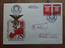 PORTOGALLO - Raccomandata 1° Giorno 1961 Con Annulli Retro + Spese Postali - FDC