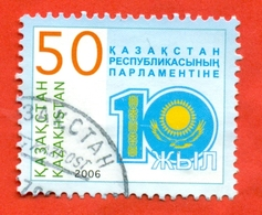 Kazakhstan 2006.10 Years To Parliament.Used Stamp. - Kazakhstan