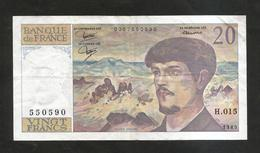 FRANCE - BANQUE De FRANCE - 20 Francs DEBUSSY (1985) - 1962-1997 ''Francs''