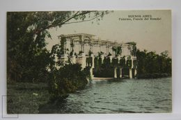 Postcard Argentina - Buenos Aires, Palermo, Rosedal Bridge - Puente - Unknown Publisher - Argentina