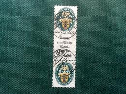 Deutsches Reich Zusammendruck 1928 Nothilfe S62 (2000€) FALSCH STEMPEL (MH Forged Cds Oblit. Fausse) - Se-Tenant
