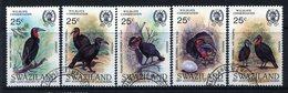 Swaziland 1985 Birth Bicentenary Of John J. Audubon - Ground Hornbills Set Used (SG 481-485) - Swaziland (1968-...)