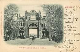 Téheran  Porte De Topkhane  Voyagée En 1902 - Iran