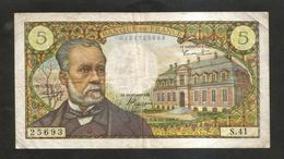 FRANCE - BANQUE De FRANCE - 5 Francs PASTEUR  (E.4 - 11 - 1962 ) - 5 F 1966-1970 ''Pasteur''
