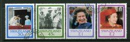 Swaziland 1987 Ruby Royal Wedding Set Used (SG 537-540) - Swaziland (1968-...)