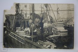 Postcard France - Marseille Year 1913 - Sailors On Marie Frederic Ship - Unknown Publisher - Puerto Viejo (Vieux-Port), Saint Victor, Le Panier