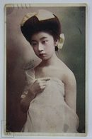 Postcard Japan - Year 1913 - Young Geisha Girl Possing - G.T. - - Japón
