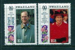 Swaziland 1991 65th Birthday Of Queen Elizabeth II And 70th Birthday Of Prince Philip Set Used (SG 592-593) - Swaziland (1968-...)
