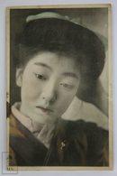 Postcard Japan - Year 1913 -Geisha Girl Face Closs Up Possing - S. N. Banshiudo - Japón