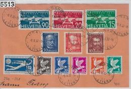 1932 Briefteil 185-190/250-255 191-193-259-261 Flugpost F16-F18/256-258 Lugano 5.X.32 - Cartas
