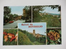 LUCCA - Villa Basilica - Saluti Da Boveglio - Panorama Con La Chiesa E L'ingresso Del Paese - Funghi E Castagne - 1981 - Lucca