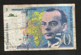 FRANCE - BANQUE De FRANCE - 50 Francs St Exupéry (1994) - 1992-2000 Ultima Gama