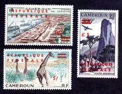 CAmeroun PA N°49a,50a,51a N** TB (49a Et 50a Jaunis ) Cote 220 Euros !!!RARE - Cameroon (1960-...)