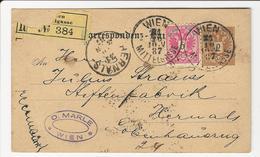 Postal Stationery * Austria * 1887 * Registered * Wien * Mittelgasse - Entiers Postaux