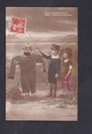 Guerre 14-18 Patriotique Croquemitaine Peur Epouvantail Enfants Uniforme Allemand Casque à Pointe Coiffe Alsacienne - Guerre 1914-18